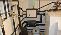 Fußboden Kühlung, Systemtrennung , Soleleitung , Tiefenbohrung, Sole Ausdehungsgefäß