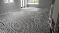 Fußbodenheizung Tackersytem mit Tackerplatten Firma Vogel und Noot